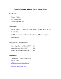 Zone 3 (Calgary) Alberta Winter Game Trials