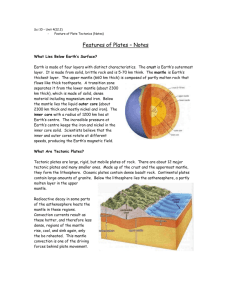 Features of Plate Tectonics