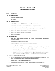 Temporary Controls - Broward County Public Schools