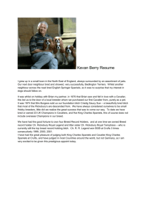 Kevan Berry Resume - Cavalier King Charles Spaniel Club