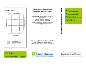 Community Psychiatric Services for the Elderly Brochure and Map
