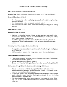 Technical Writing Learning Plan