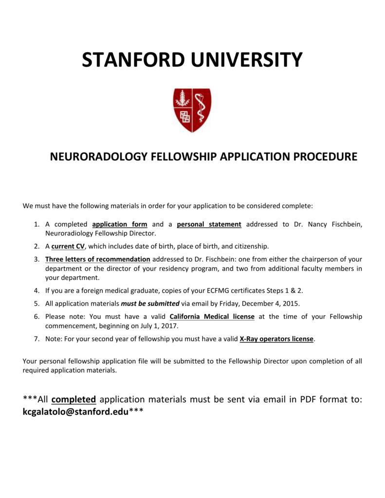 breast imaging fellowship at stanford university medical center