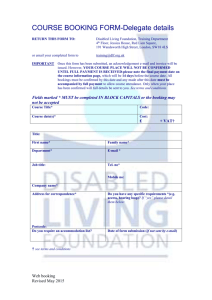 booking form - Disabled Living Foundation