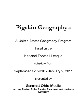 Pigskin Geography Teacher Guide