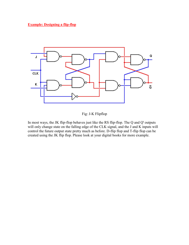 Example 2004 J K Flip Flop Circuit Diagram