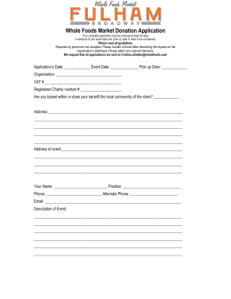 Donation application form Fulham