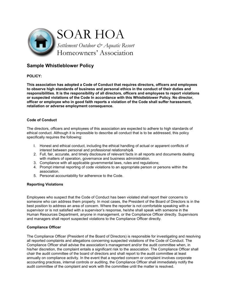 Cool Whistleblower Policy Template Contemporary - Example Resume ...