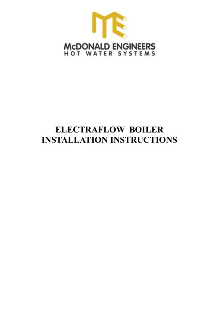 electraflow boiler installation instructions
