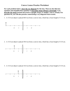 Convex Lenses Practice Worksheet