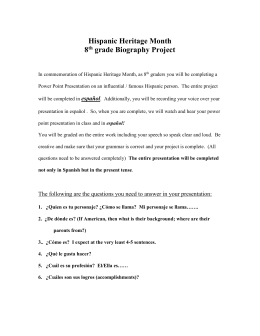 Hispanic Heritage 8 grade project