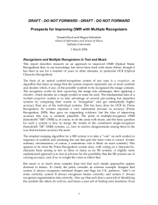 Prospects for Improving OMR with Multiple Recognizers