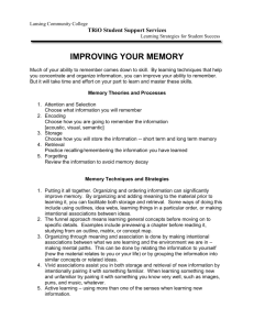 Improve Memory - Lansing Community College