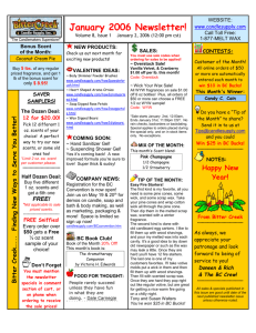 Issue 1 January 2, 2006 (Word doc)