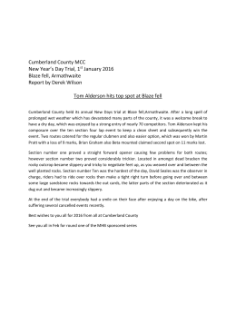 Cumberland County North Carolina Emergency Operations Plan
