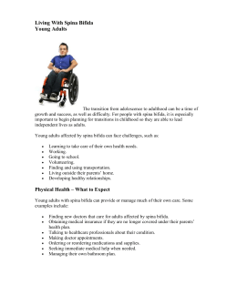binder sheet living with spina bifida adults