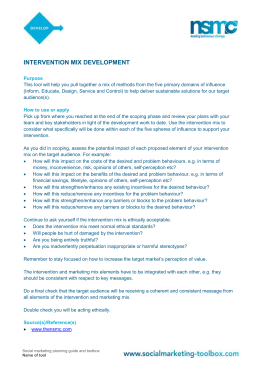 Intervention mix development