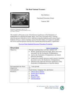 Overview - Teaching with Primary Sources at Illinois State University