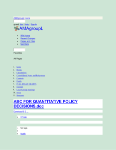 AMAgroupL - ABC FOR QUANTITATIVE POLICY DECISIONS