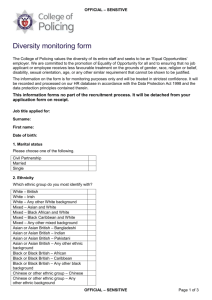 Diversity form - College of Policing