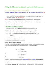 Using the Fibonacci numbers to represent whole numbers
