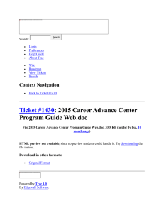 2015 Career Advance Center Program Guide Web on Ticket