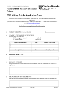 EHSE202 Visiting Scholar Application