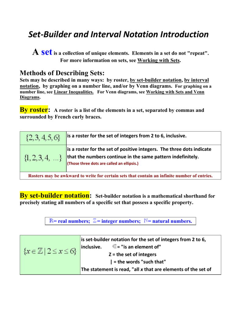 Set builder and interval notation introduction a set is a set builder and interval notation introduction a set is a collection of pooptronica