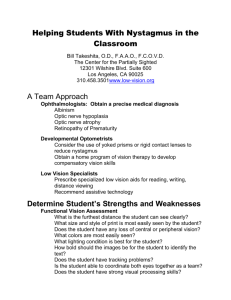 Helping Students With Nystagmus in the Classroom