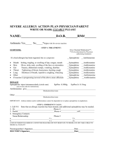 severe allergy action plan physician/parent