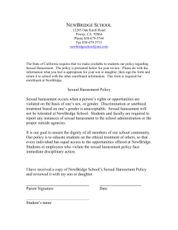 Sexual Harassment Form – Students