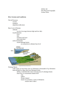 River Systems and Landforms