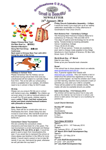 School Newsletter - Goodnestone Church of England Primary School