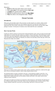 Ocean Current Article & Questions in class Assignment