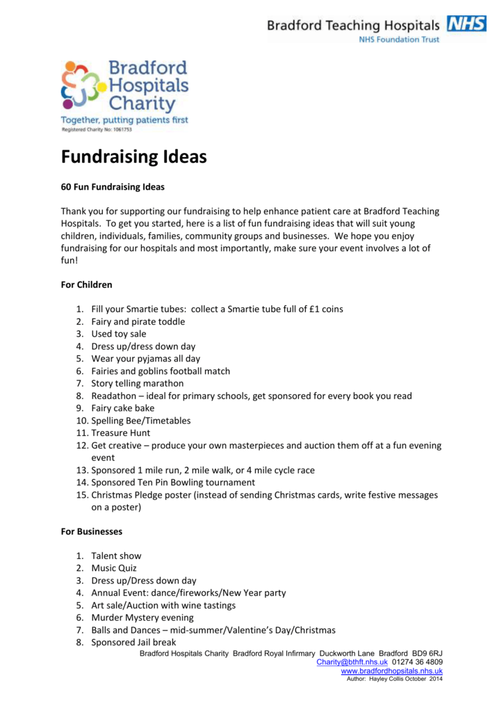 Christmas Fundraising Ideas For Charity.Top 60 Fundraising Ideas