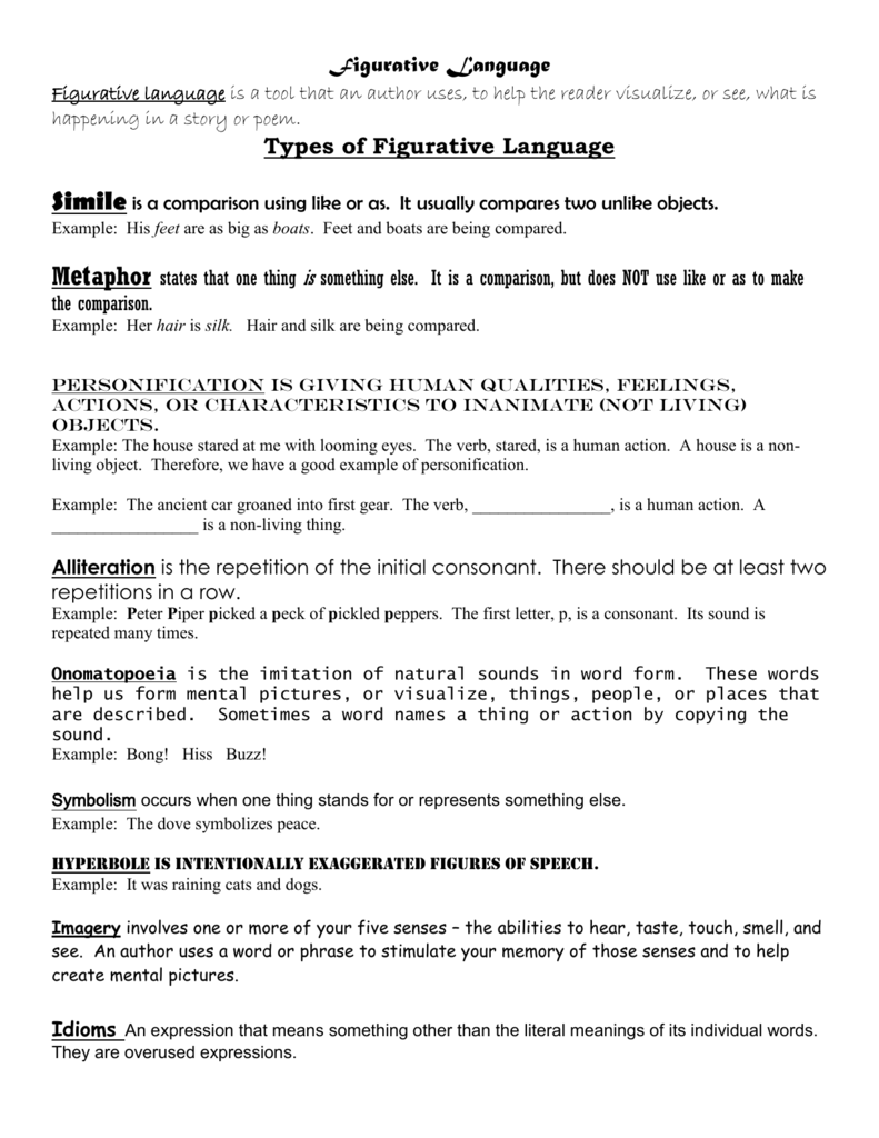 how many types of figurative language are there