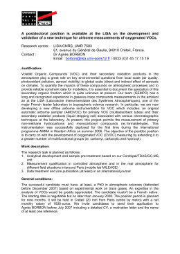 A nine month postdoctoral position is available in analytical