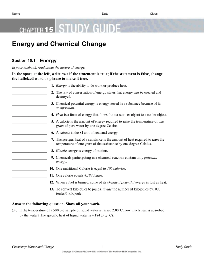 ch 15 study guide answer key rh studylib net chemistry matter and change study guide ch 5 chemistry matter and change study guide ch 25