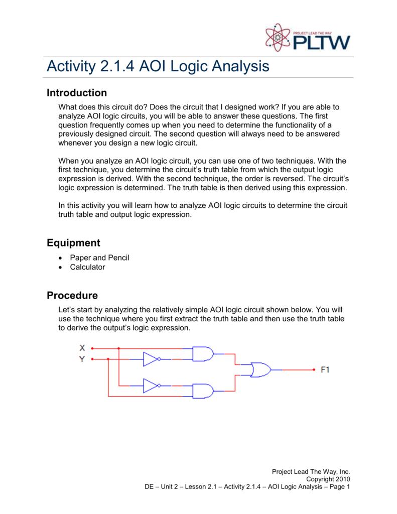 Activity 214 Aoi Logic Analysis 2 Way Switch Gate