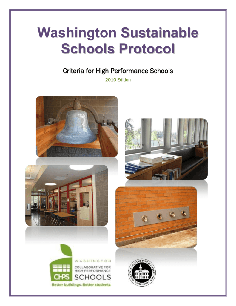 WSSP Criteria for High Performance Schools