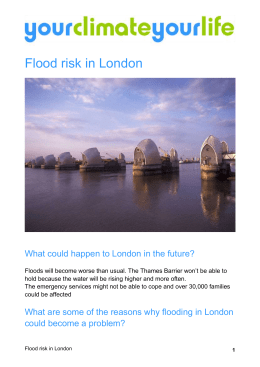 risk of flooding in London