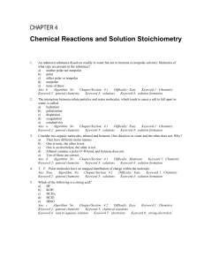 Chemical Reaction/Solution Practice Answers