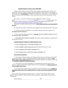 Academic Integrity Contract: Class CMPE-080N