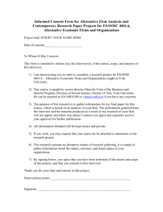 Informed Consent Form for Alternative Firm Analysis