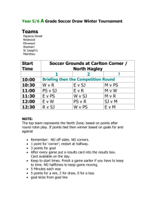 Year 7/8 Senior Grade Winter Tournament Soccer