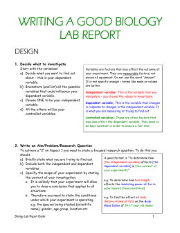 The Perfect Biology Lab Report  - Signatur…