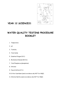 Physical-chemical and biological measures of water quality are the
