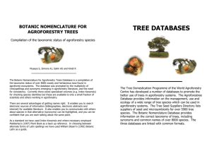 TREE DATABASES - World Agroforestry Centre