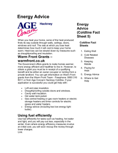 Energy Advice (Coldline Fact Sheet 5)