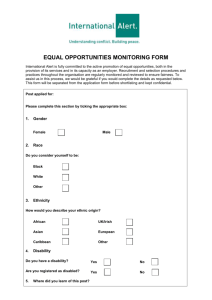 equal opportunities form